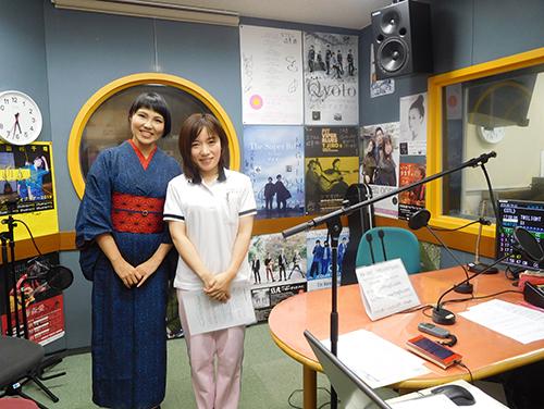 FMGIFUスタジオにて小島愛さんと宇野施設長